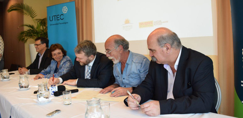 BID y UTEC firmaron convenio de cooperación técnica para realizar estudio de factibilidad para el establecimiento de un parque tecnológico en Rivera