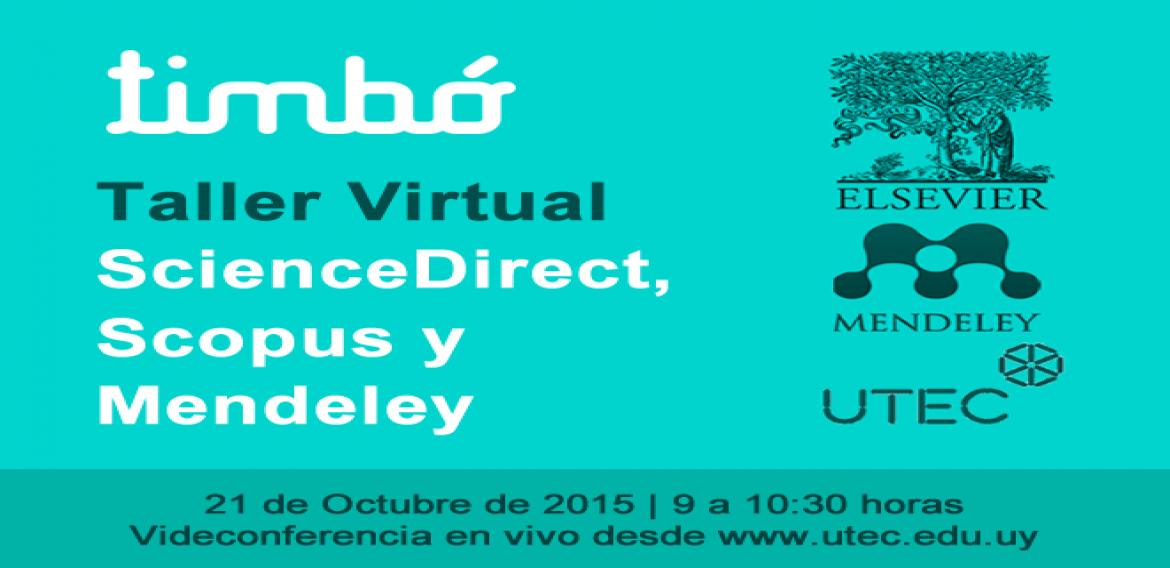 """Workshop de Sciencedirect, Scopus y Mendeley"""