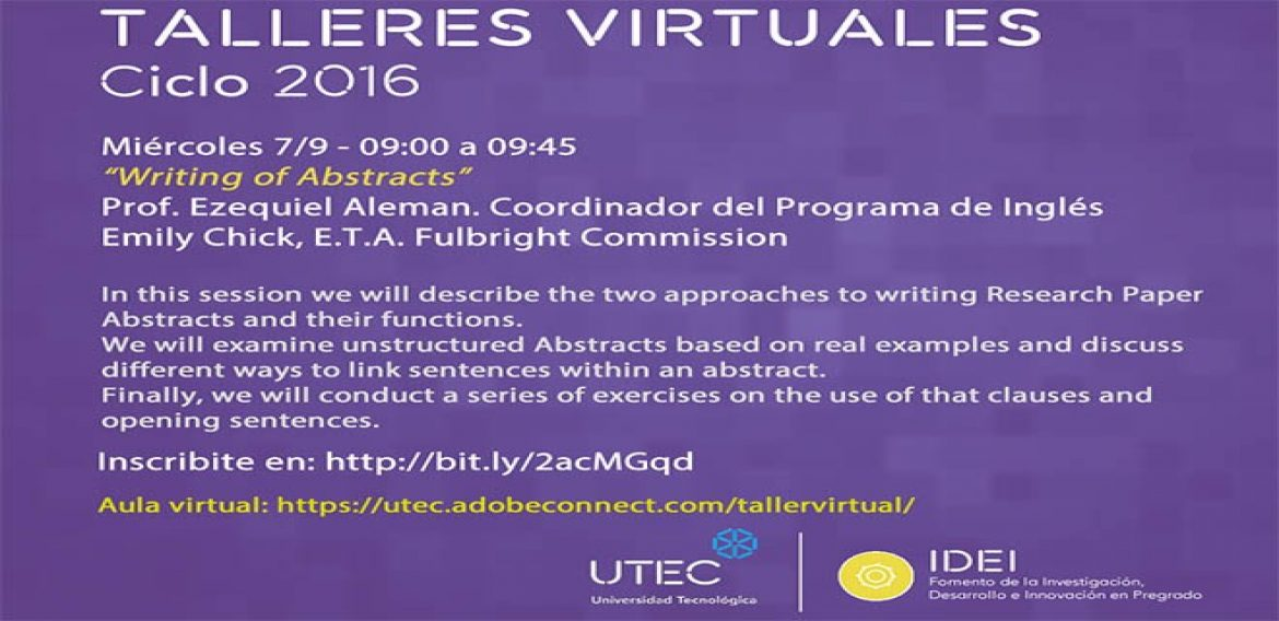 "Taller ""Writing of Abstracts"""