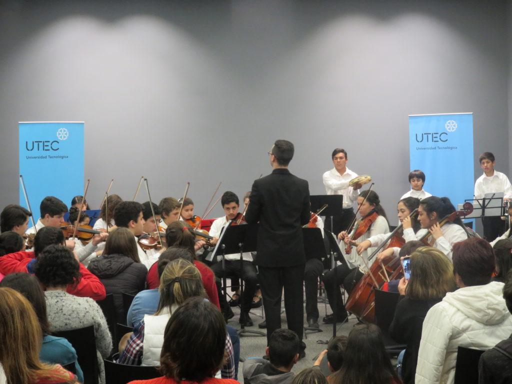 Orquesta sinfónica juvenil de Durazno estuvo presente en UTEC
